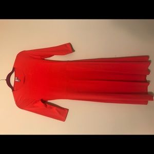 Asos red midi dress